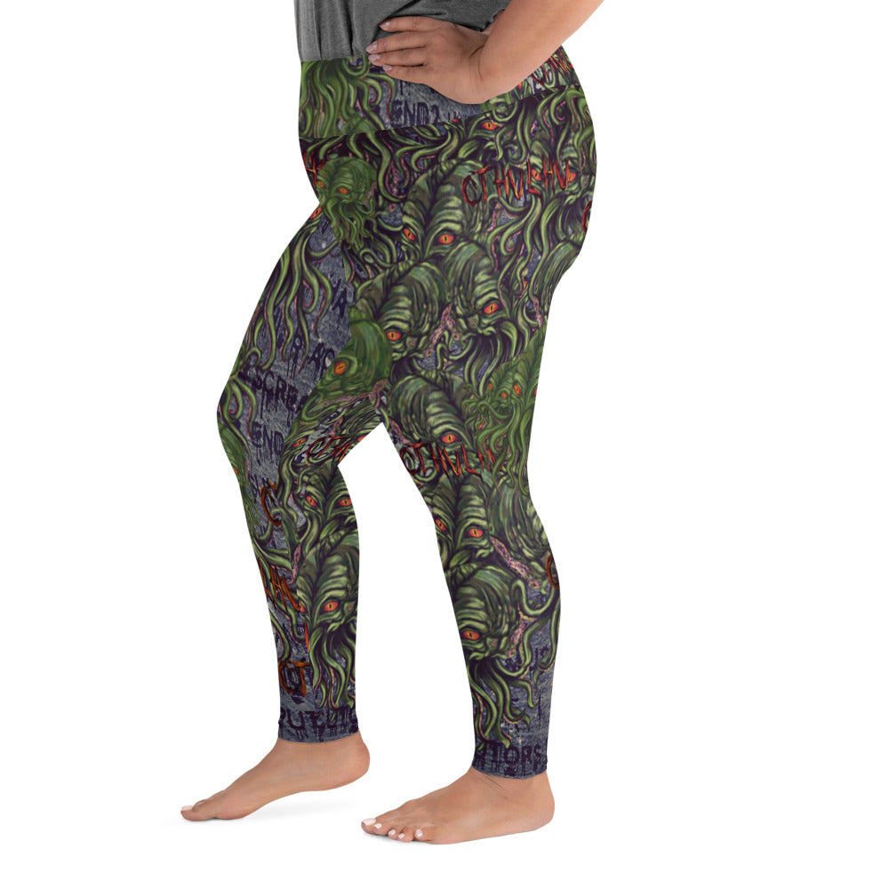 Cthulhu  Plus Size Leggings-Starry Meadows