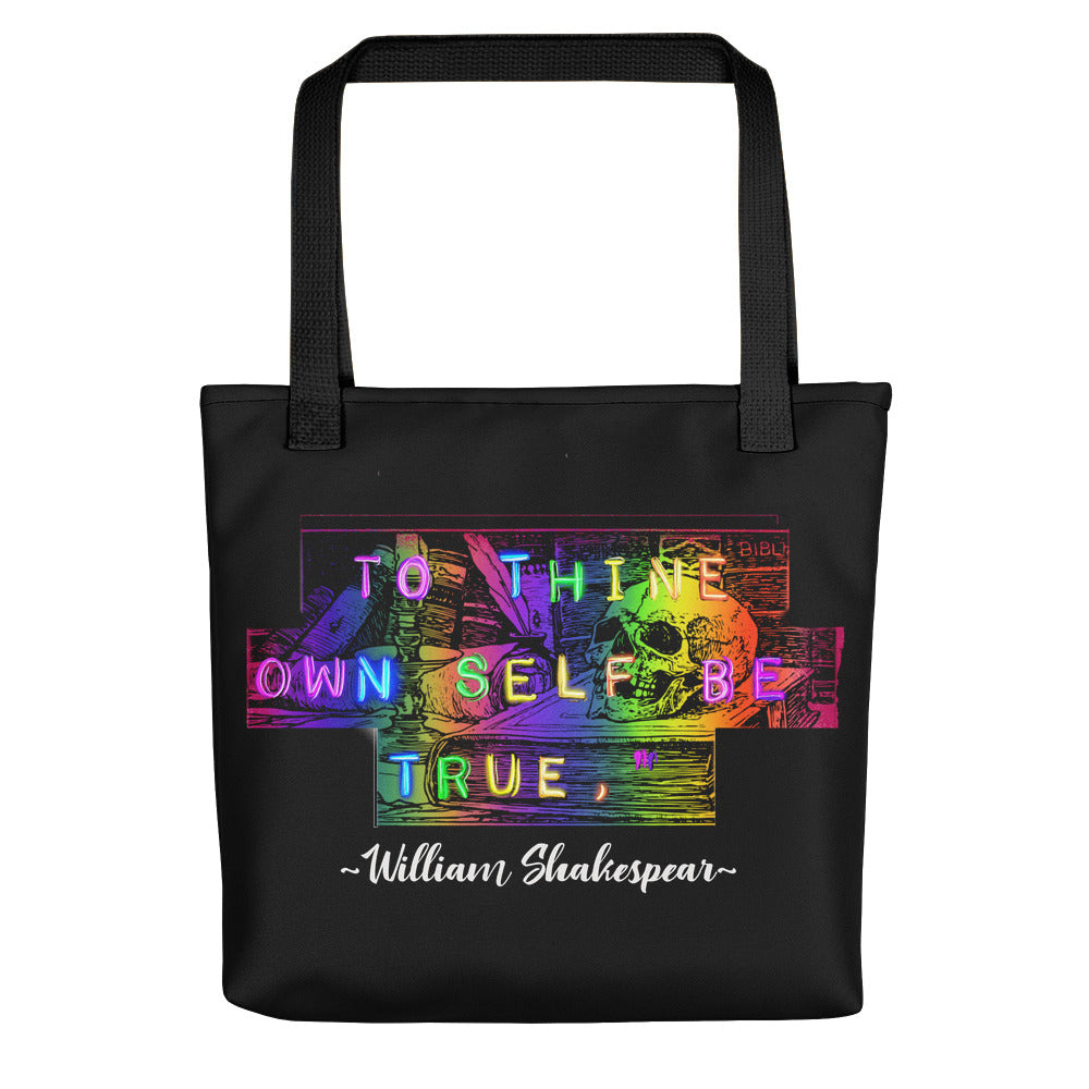 To Thine Own Self Be True Tote Bag-Starry Meadows
