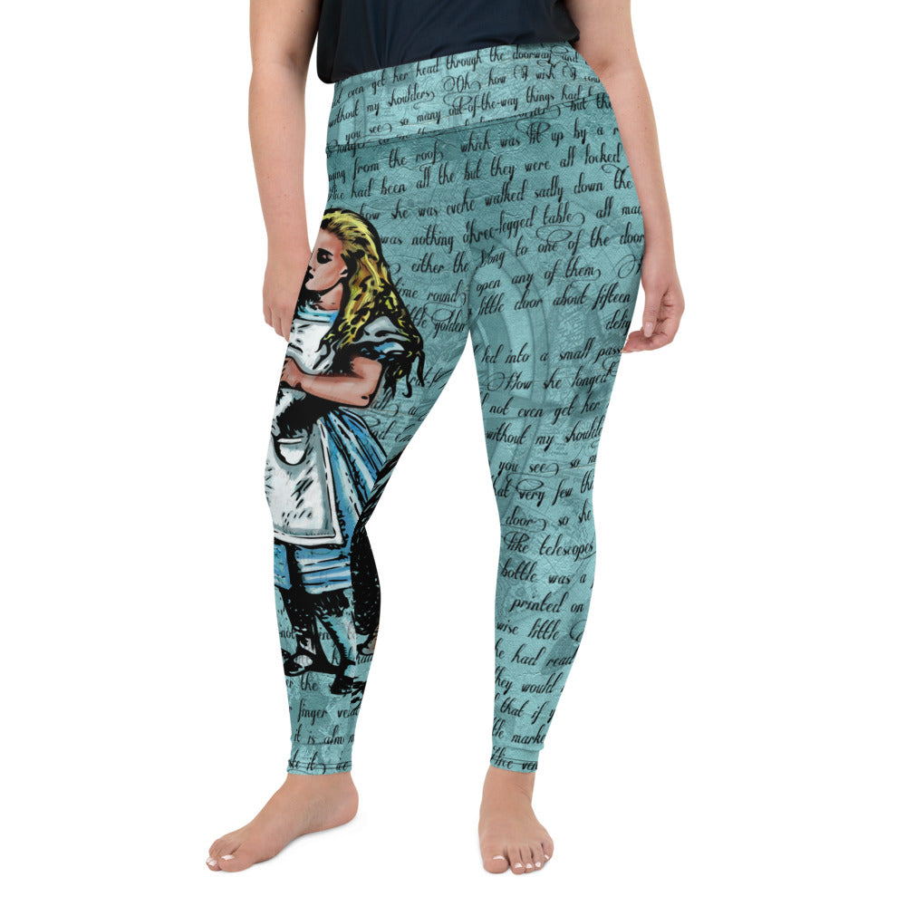 "Alice's ""Drink Me"" Plus Size Leggings-Starry Meadows"