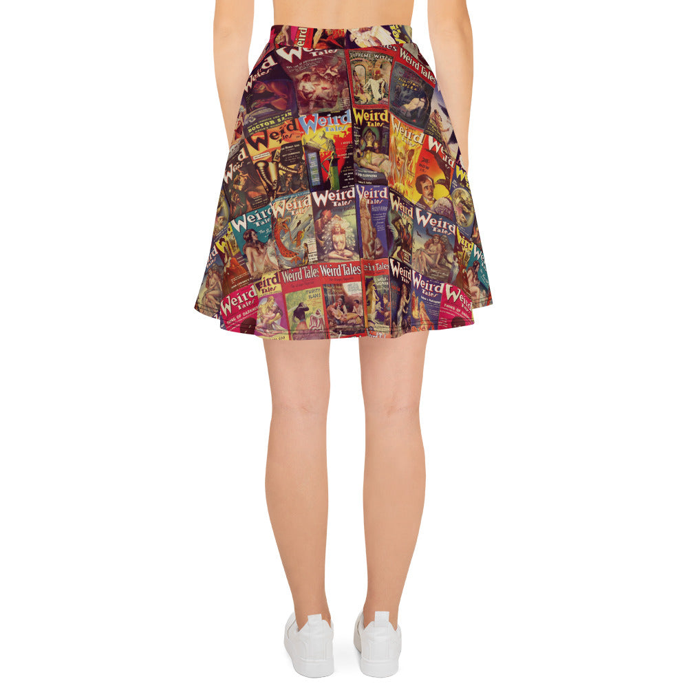 Weird Tales Skater Skirt-Starry Meadows