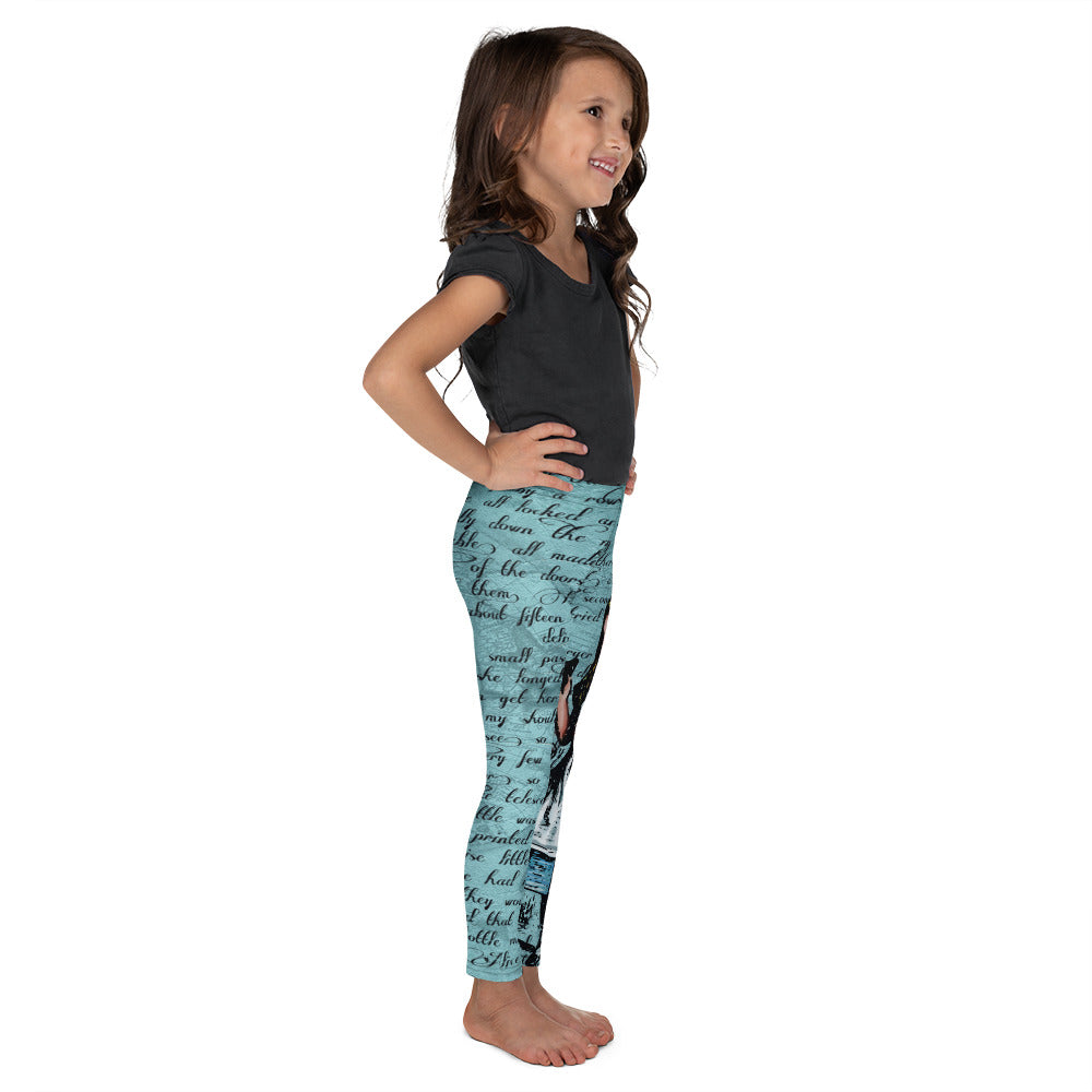 "Alice's ""Drink Me"" Kid's Leggings-Starry Meadows"