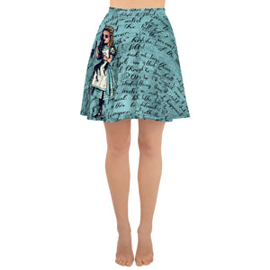 "Alice's ""Drink Me"" Skater Skirt-Starry Meadows"