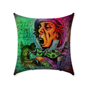 Mad Hatter Throw Pillow-Starry Meadows