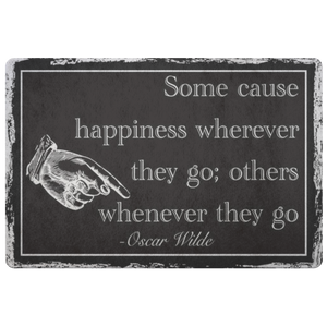 Oscar Wilde Quote Doormat-Starry Meadows