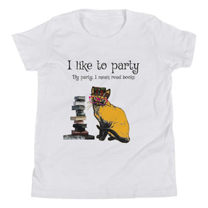 I like to party Cat Youth Short Sleeve T-Shirt-Starry Meadows