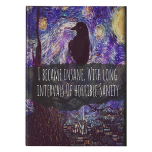 Insane Raven Hardcover Journal-Starry Meadows