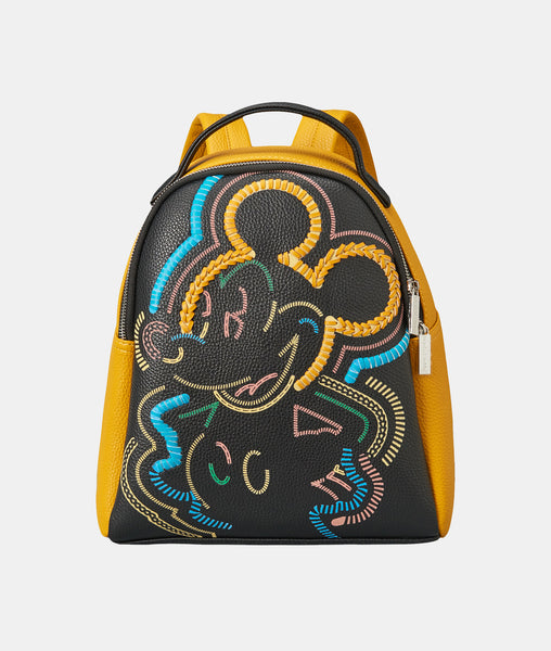 Disney Mickey Mouse Retro Muliti Color Whipstich Backpack