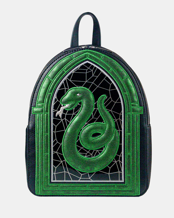 Slytherin Stained Glass Backpack
