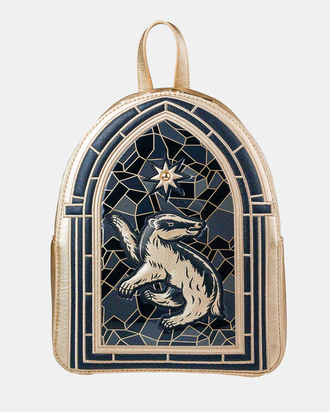 Hufflepuff Stained Glass Backpack