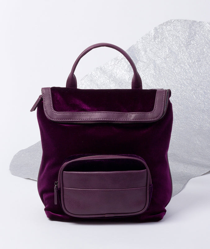 Jade Velvet Backpack