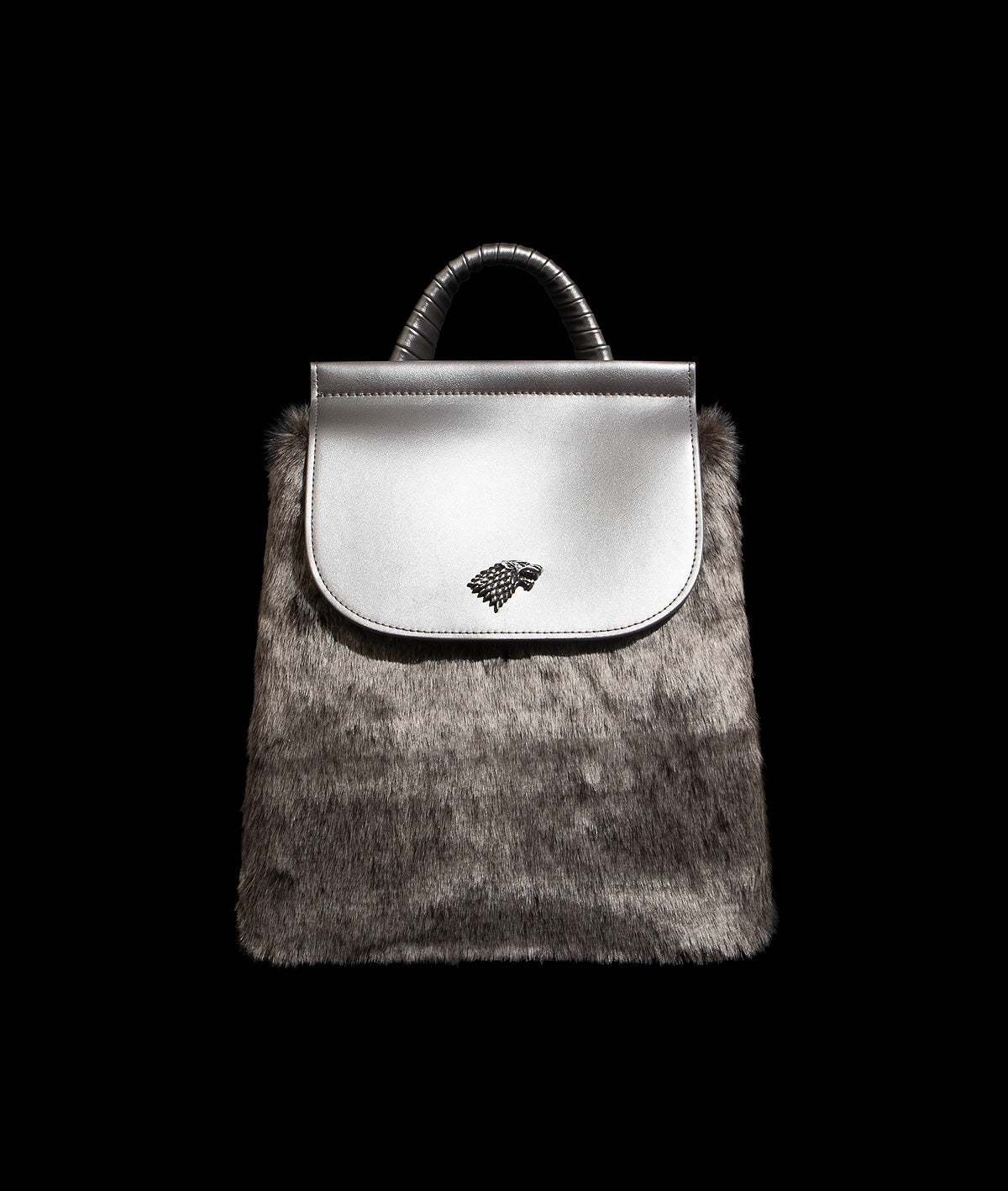 House Stark Faux Fur Backpack
