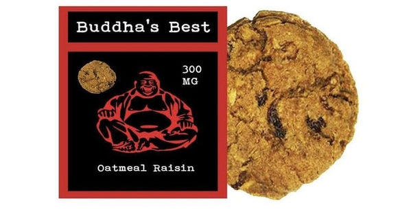 Buddha's Best - Oatmeal Raisin Cookie 300mg