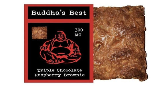 Buddha's Best - Triple Chocolate Raspberry Brownie 300mg