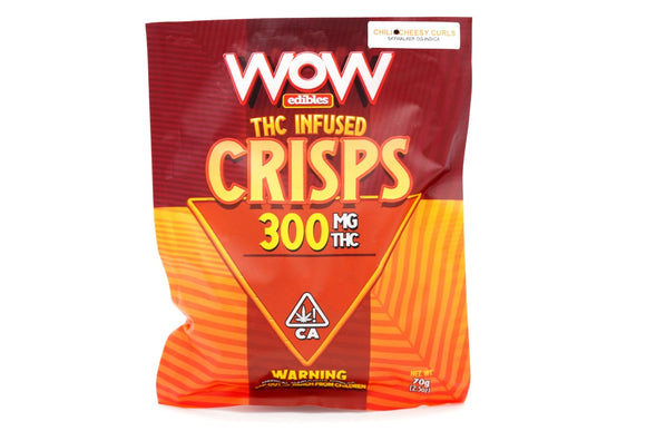 WOW Crisp Chips - Chili Cheese Curls 300mg