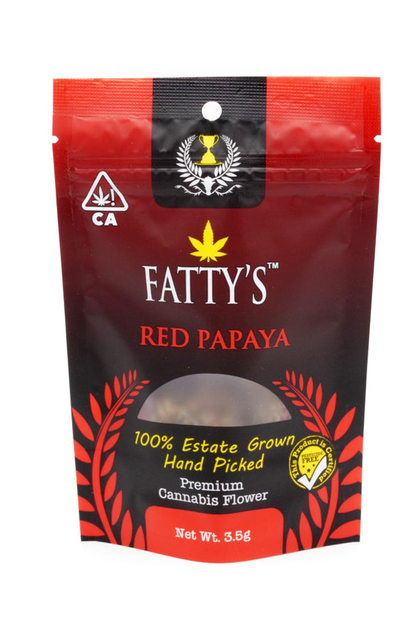 *FATTY'S* Pre-Packaged Exotic Flower - Red Papaya
