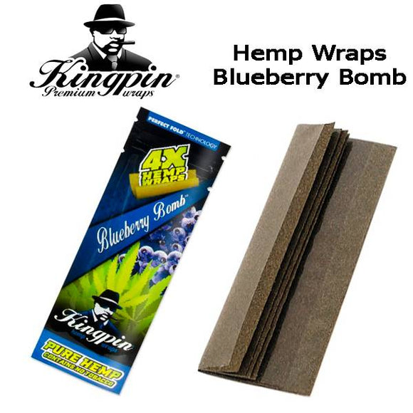 Kingpin Hemp Wraps - Blueberry Bomb