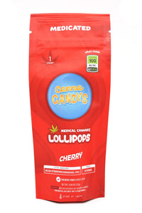 Canna Candy's Lollipops 100mg - Cherry