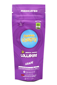 Canna Candy's Lollipops 100mg - Grape