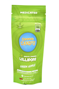 Canna Candy's Lollipops 100mg - Green Apple