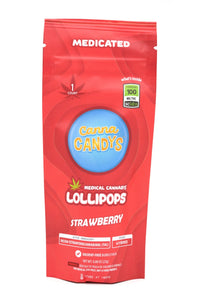 Canna Candy's Lollipops 100mg - Strawberry