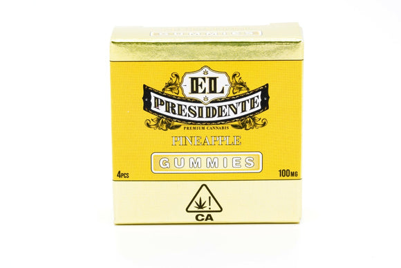 El Presidente Gummy - Pineapple 100mg (previously Presidential)
