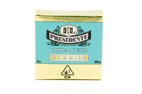 El Presidente Gummy - Tropical Punch 100mg (previously Presidential)