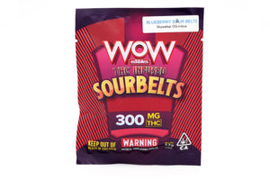 WOW Sour Belts - Blueberry Indica 300mg