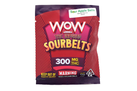 WOW Sour Belts - Sour Apple Indica 300mg