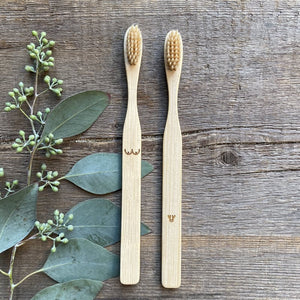 Nudie Bamboo Toothbrush Set