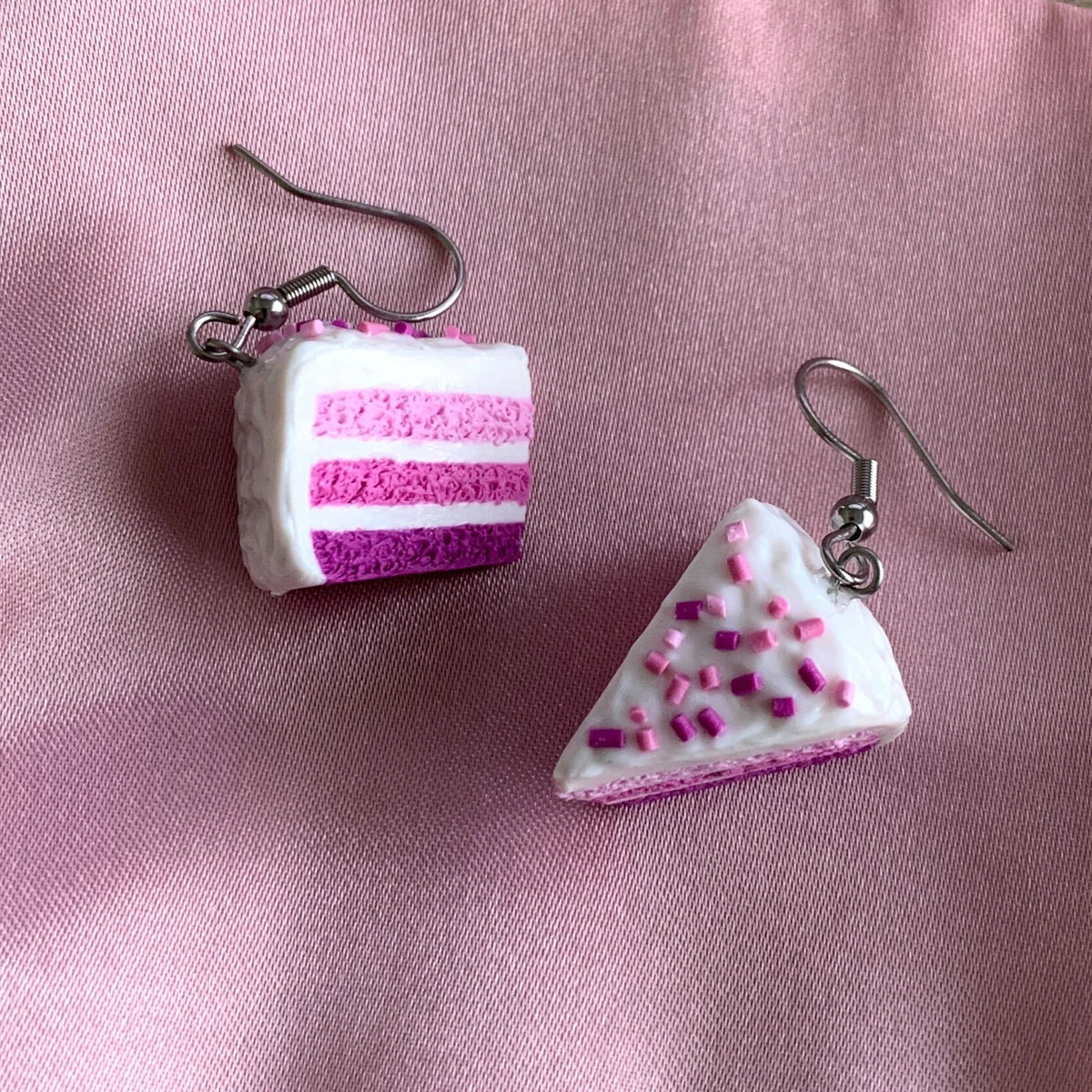 Cake Slice Dangle Earrings