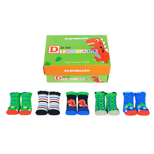 D is for Dinosaur Toddler Socks (1-2 years)