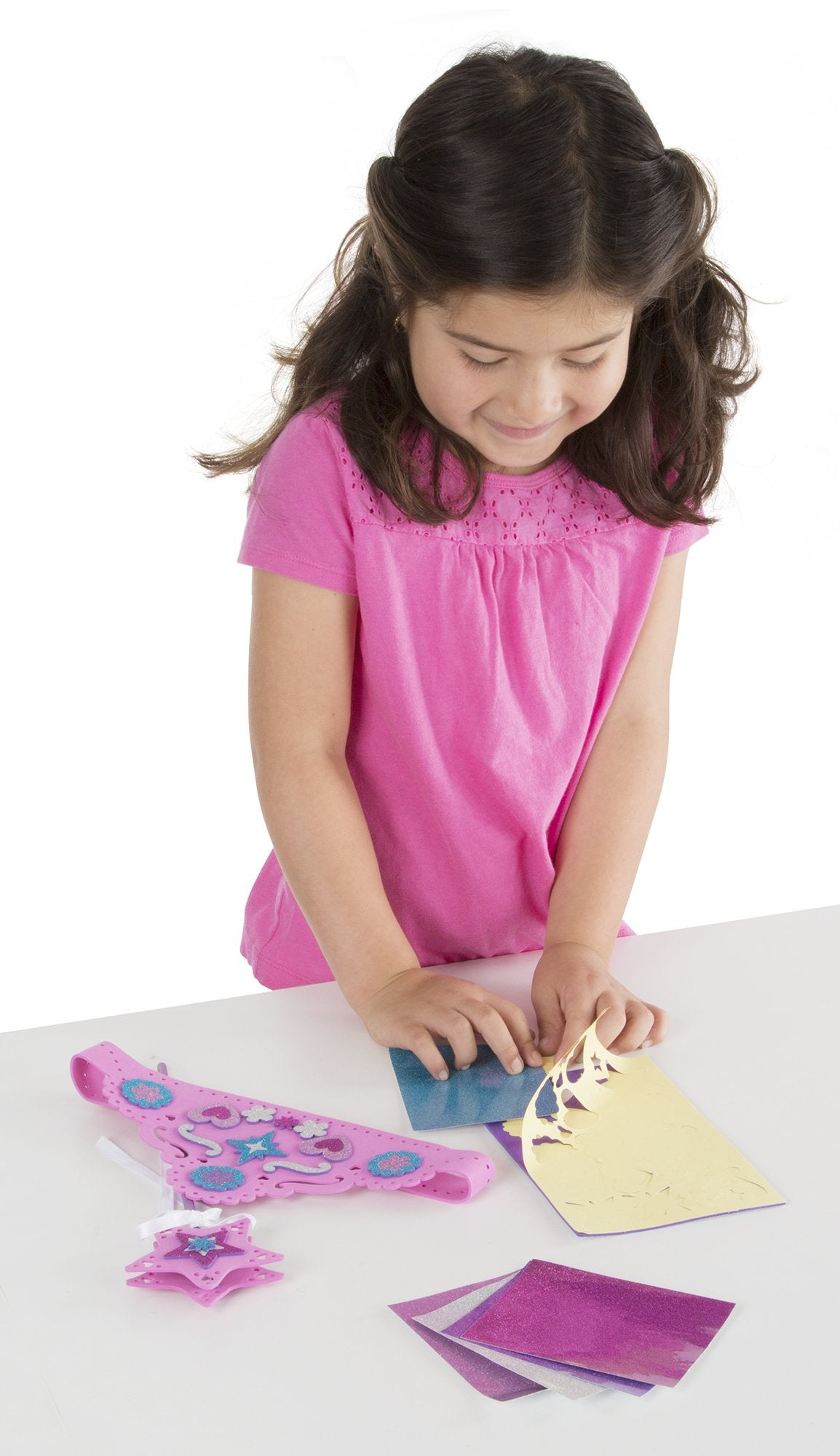 Melissa & Doug Mess-Free Glitter - Foam Wand and Tiara