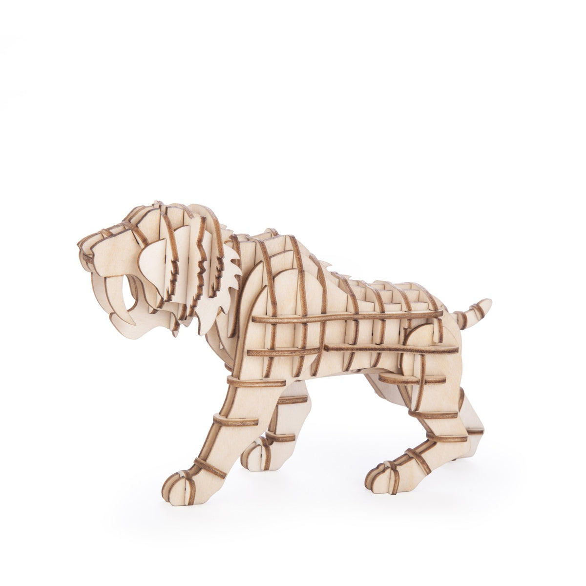 3D Wooden Sabre Tooth Tiger Puzzle