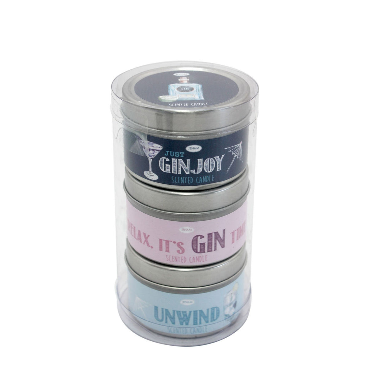 Gin Talk Scented Candles (set of three)