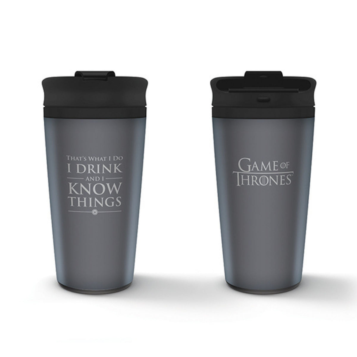 Game of Thrones Metal Travel Mug – I Drink and I Know Things