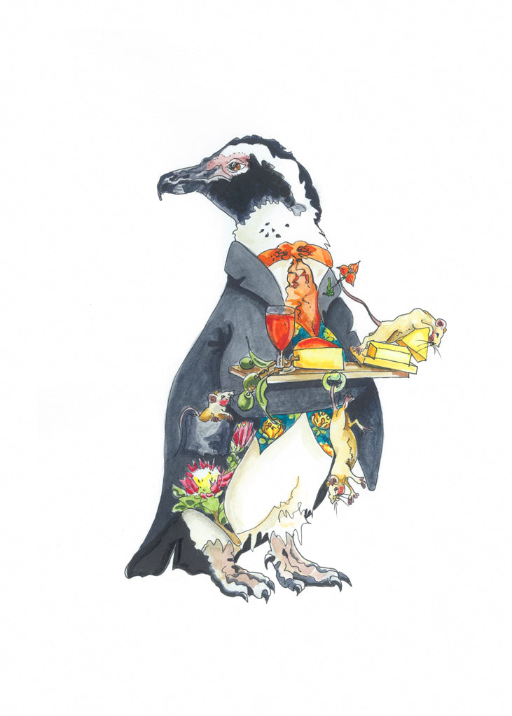 At Heart Greetings Cards – Posh Penguins (pack of 6)