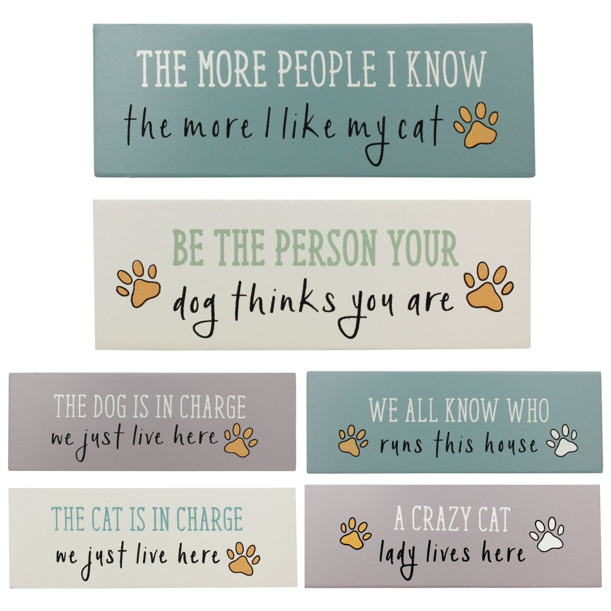 Paws for Thought Wooden Decor Blocks
