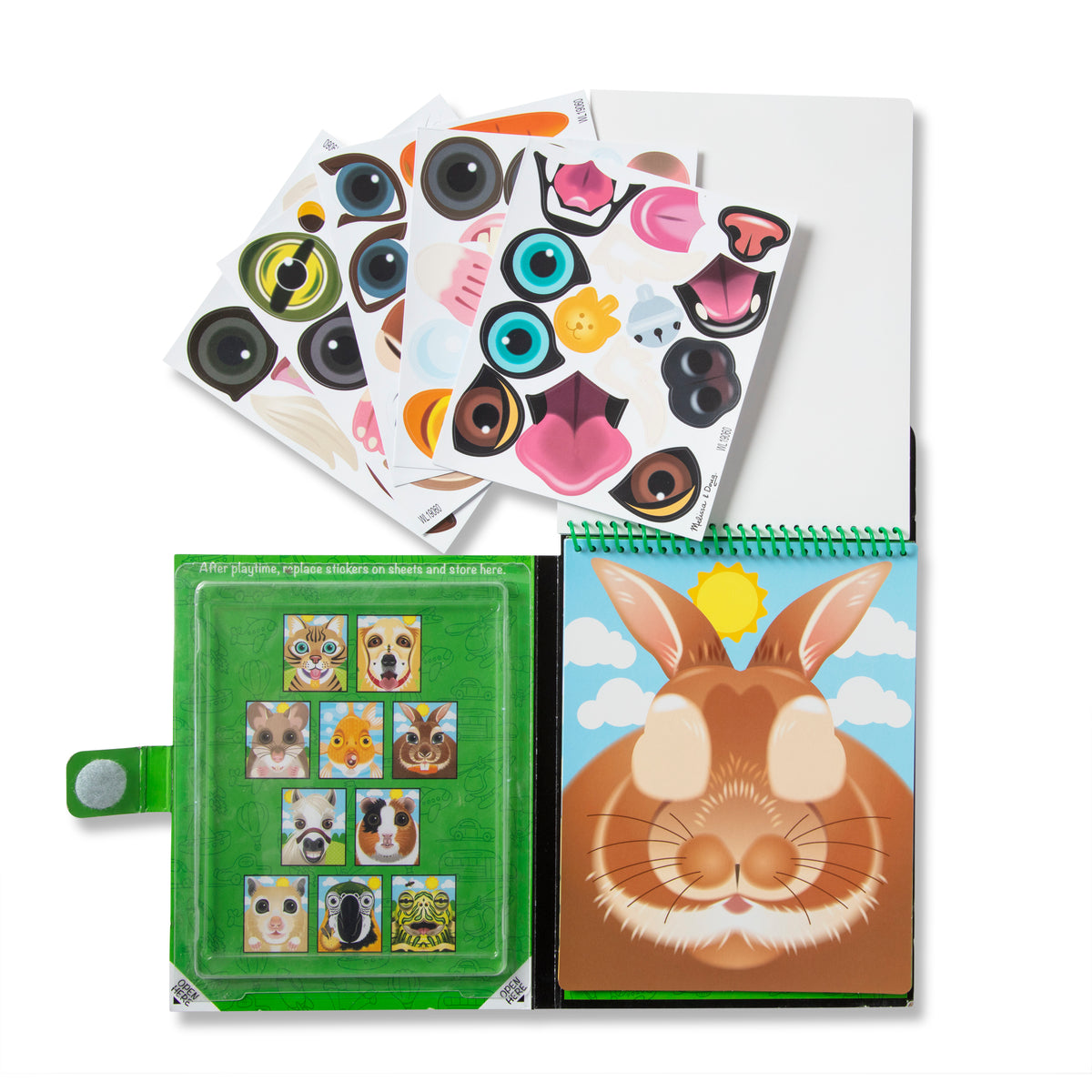 Melissa & Dog Make-a-Face Reusable Sticker Pads