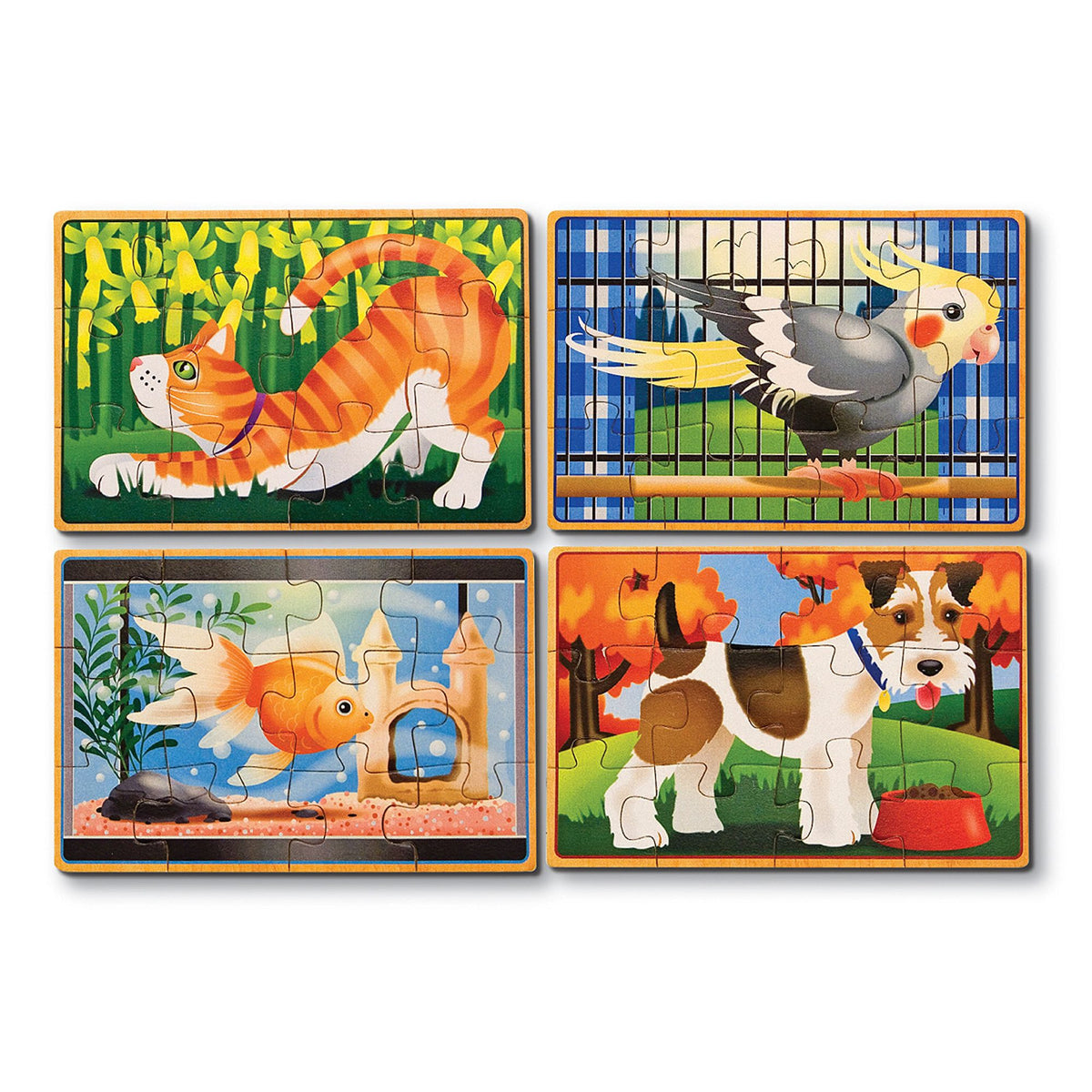 Melissa & Doug Four Wooden Puzzles in a Box (assorted designs)