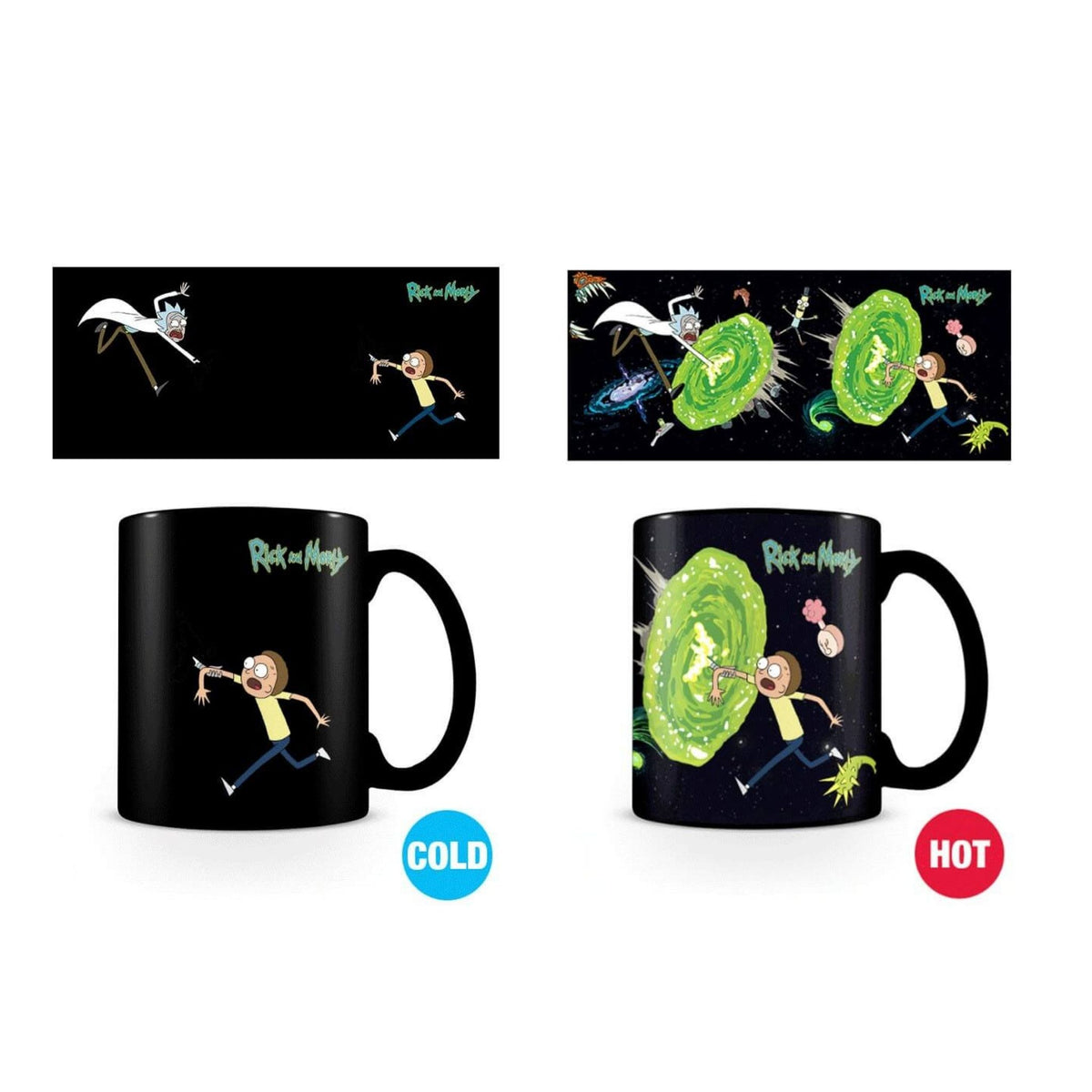 Rick and Morty Heat-Changing Mug – Portal
