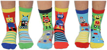 Load image into Gallery viewer, Robo-Socks Kids' OddSocks (shoe size 9-12)