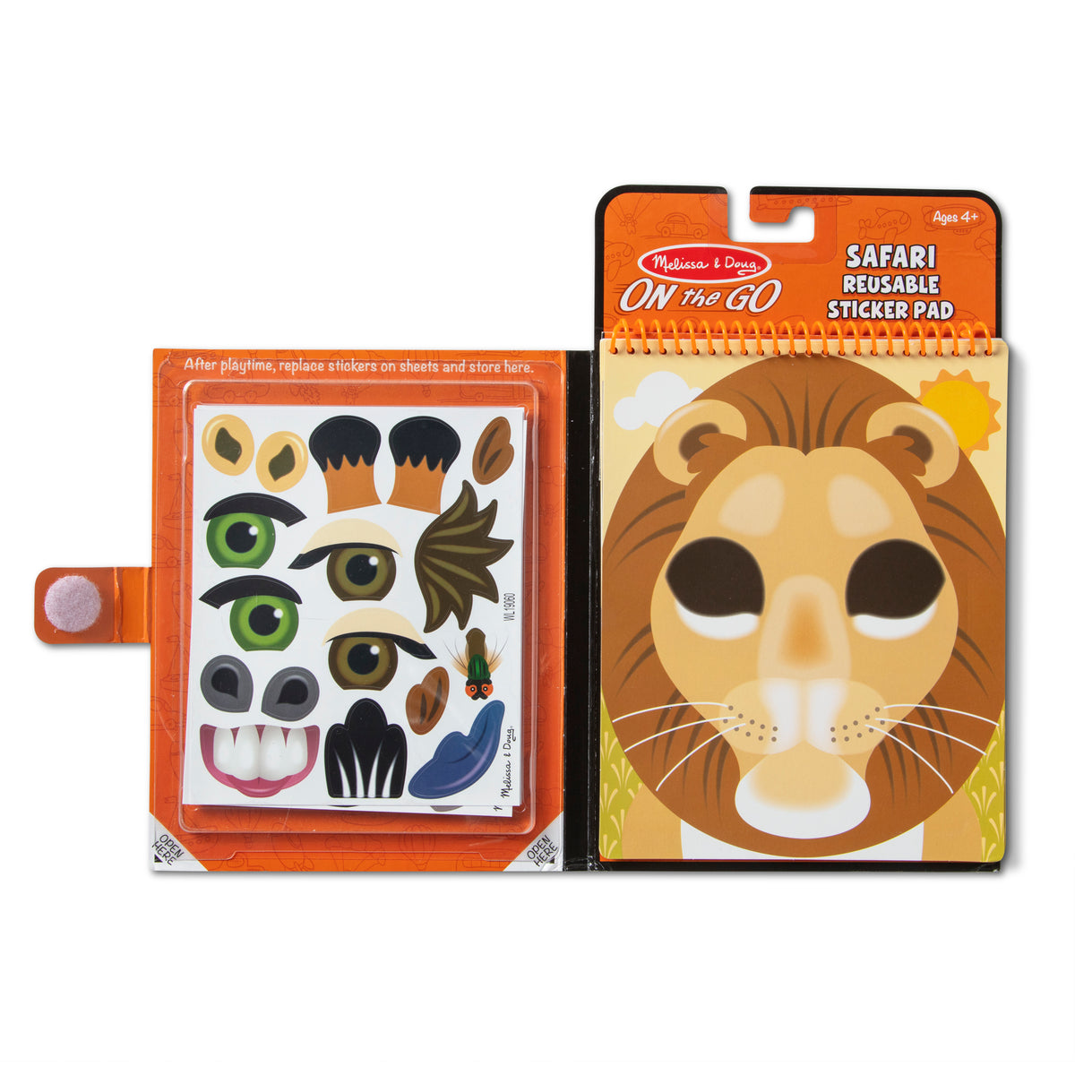 Melissa & Doug Make-a-Face Reusable Sticker Pads