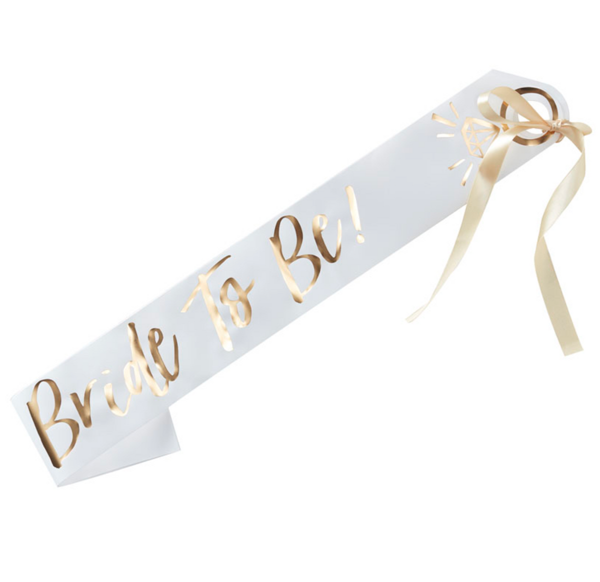 "I Do Crew – ""Bride to Be"" Sash"