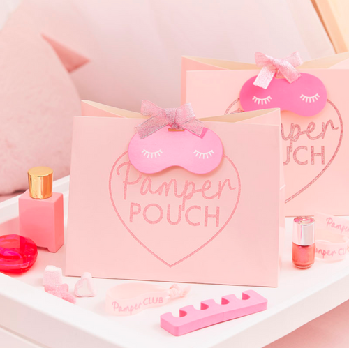 Sleepover / Pamper Party - Pink Glitter Pamper Pouch