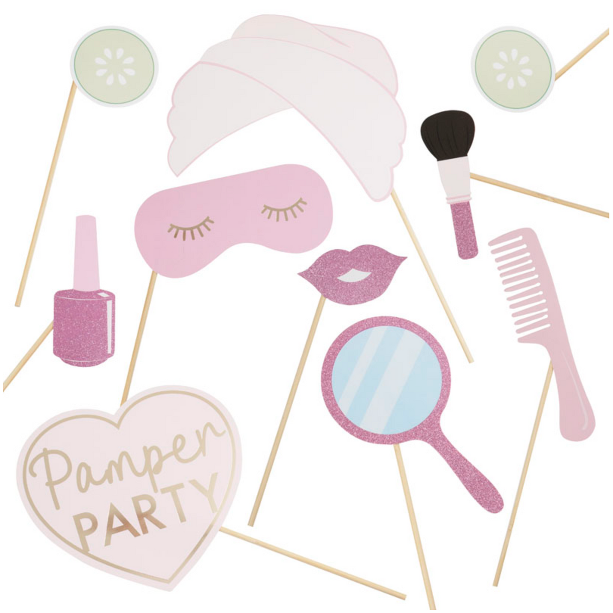 Sleepover / Pamper Party - Photobooth Props