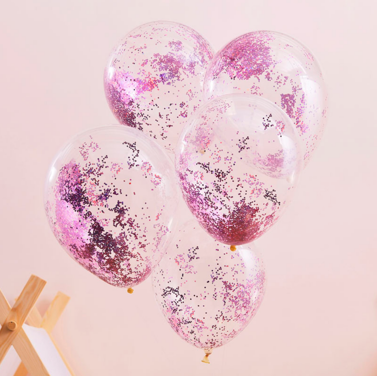 Sleepover / Pamper Party - Pink Glitter-Filled Balloons