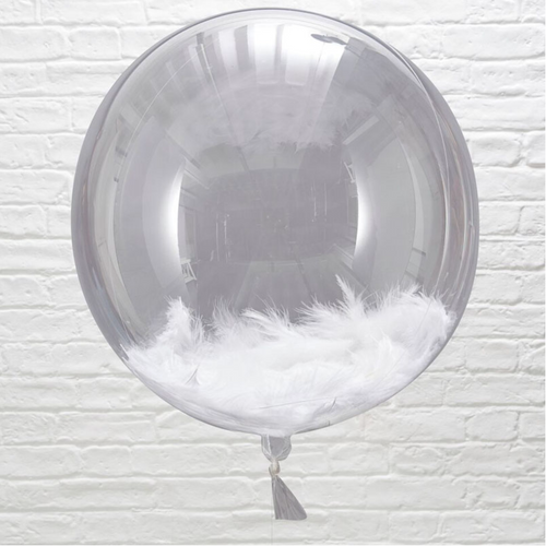 Giant White Feather Balloons (3 pack)