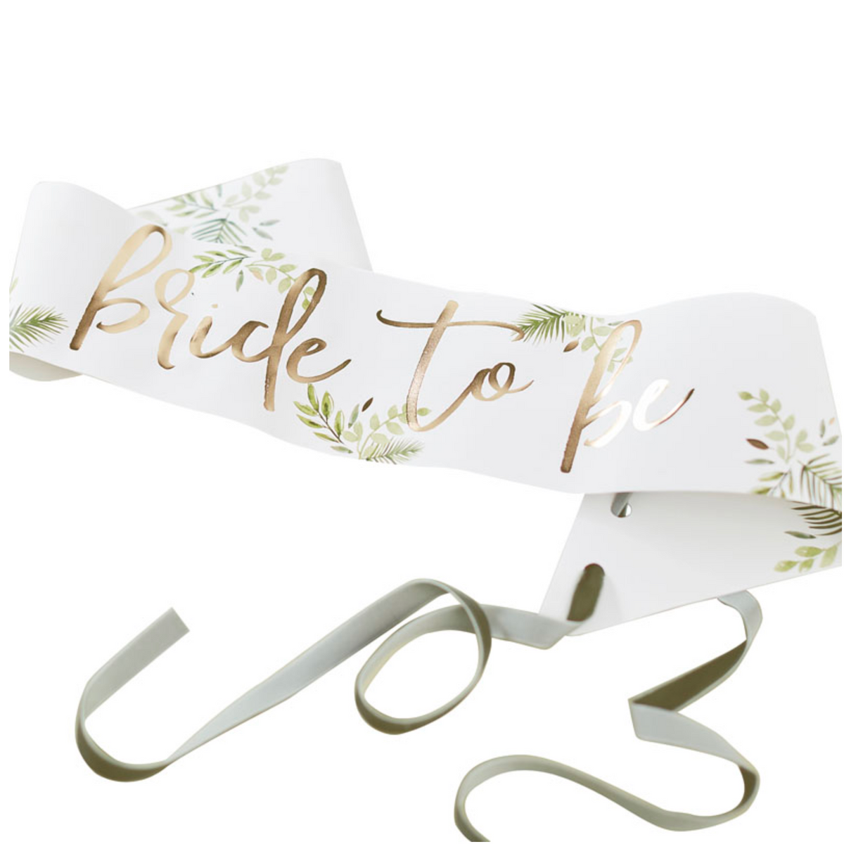 "Botanical Hen Gold-Foiled ""Bride to Be"" Sash"