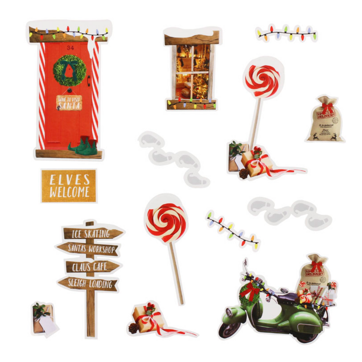 Christmas Elf Wall Stickers