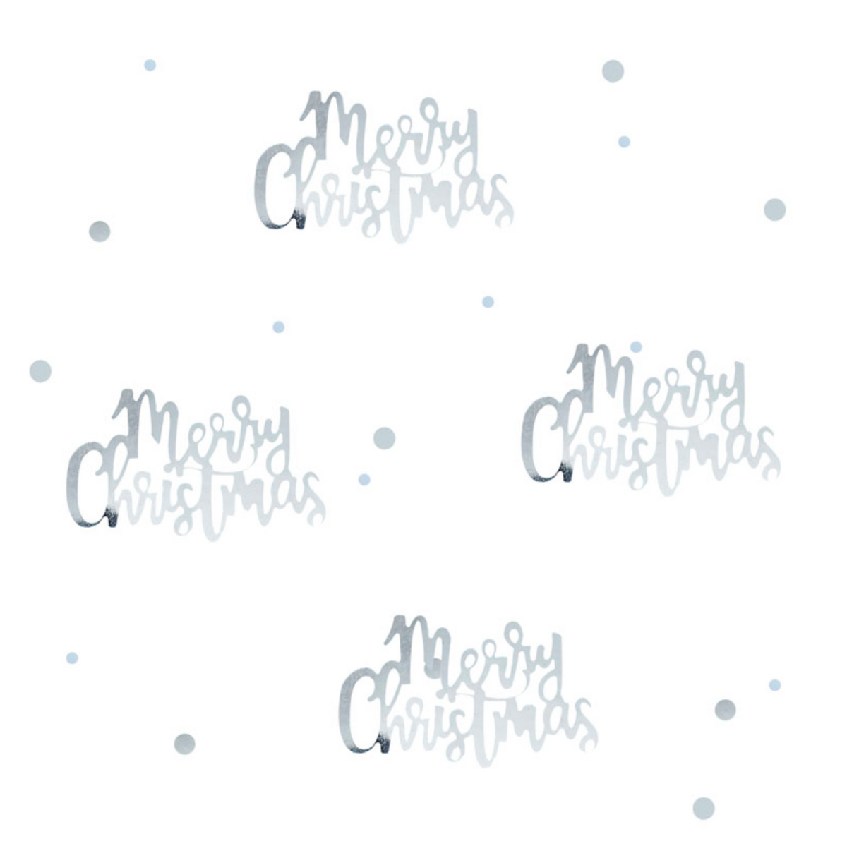 "Silver ""Merry Christmas"" Table Confetti"